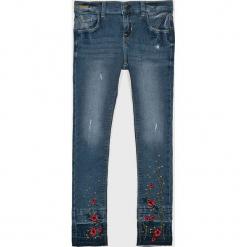 Name it - Jeansy dziecięce 128-164 cm. Niebieskie rurki dziewczęce Name it, z haftami, z bawełny, z podwyższonym stanem. Za 129,90 zł.