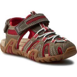 Sandały GEOX - J Sand.Kraze G J5224G 05014 C0056 Brązowy/Czerwony. Brązowe sandały męskie skórzane Geox. W wyprzedaży za 159,00 zł.