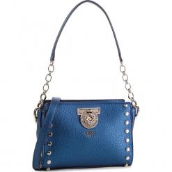 Torebka GUESS - HWMG71 77140 MIDNIGHT. Niebieskie torebki klasyczne damskie Guess, z aplikacjami, ze skóry ekologicznej. Za 599,00 zł.
