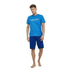 Piżama Tour 35714-55X Niebiesko-granatowa. Szare piżamy męskie marki Henderson. Za 99,90 zł.