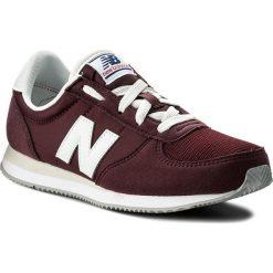 Sneakersy NEW BALANCE - KL220CDY Bordowy. Czerwone trampki chłopięce New Balance, z materiału, na sznurówki. Za 249,00 zł.