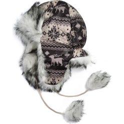 Czapka damska Uszanka Renifery brązowo-biała. Białe czapki zimowe damskie marki Art of Polo. Za 47,34 zł.