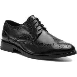 Półbuty CLARKS - James Wing 261385107 Black. Czarne buty wizytowe męskie Clarks, ze skóry. Za 759,00 zł.