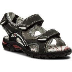 Sandały BARTEK - 16108/167 Czarno-Szary. Czarne sandały chłopięce Bartek, z materiału. W wyprzedaży za 159,00 zł.
