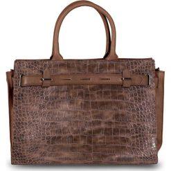 """Torebka biznesowa """"Kroko"""" bonprix brązowy. Brązowe torebki klasyczne damskie marki ARTENGO, z materiału. Za 79,99 zł."""