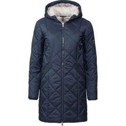 Płaszcz pikowany dwukolorowy bonprix ciemnoniebiesko-kamienisty. Niebieskie płaszcze damskie bonprix. Za 149,99 zł.