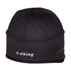 Czapki męskie: Viking Czapka Cross Country 2022 czarna z białym napisem r. 56 (219202256)