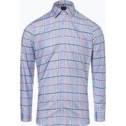 Olymp Level Five - Koszula męska łatwa w prasowaniu, niebieski. Niebieskie koszule męskie na spinki OLYMP Level Five, m, w kratkę, z klasycznym kołnierzykiem. Za 249,95 zł.