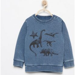 Odzież niemowlęca: Bluza z dinozaurami - Granatowy