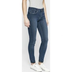 Vero Moda - Jeansy. Niebieskie jeansy damskie rurki Vero Moda, z aplikacjami, z bawełny. W wyprzedaży za 69,90 zł.
