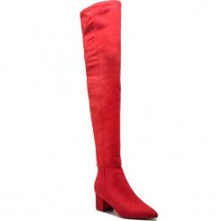 Muszkieterki STEVE MADDEN - Bolted Boot SM11000229-04001-009 Red. Czerwone buty zimowe damskie marki Steve Madden, z materiału, na obcasie. W wyprzedaży za 389,00 zł.