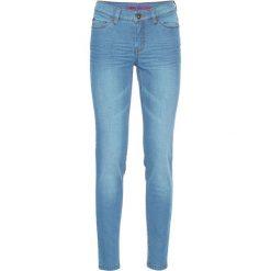 Dżinsy Super SKINNY, krótsze nogawki bonprix niebieski bleached. Niebieskie jeansy damskie bonprix, z jeansu. Za 59,99 zł.