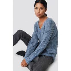 NA-KD Sweter ze splotem - Blue. Niebieskie swetry klasyczne damskie NA-KD, z dzianiny. Za 113,00 zł.
