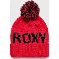 Roxy - Czapka. Czerwone czapki zimowe damskie Roxy, na zimę, z dzianiny. W wyprzedaży za 119,90 zł.