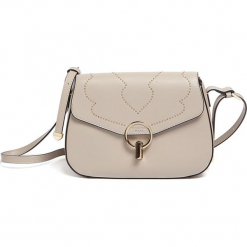 Torebka w kolorze beżowym - (S)26,7 x (W)17,5 x (G)9,5 cm. Brązowe torebki klasyczne damskie Tosca Blu, w paski, z materiału. W wyprzedaży za 429,95 zł.