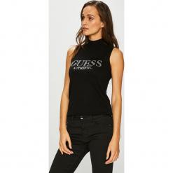 Guess Jeans - Top Ela. Niebieskie topy damskie marki Guess Jeans, z obniżonym stanem. Za 279,90 zł.