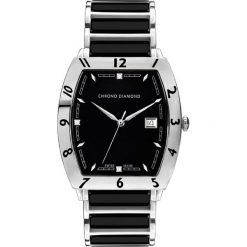 """Zegarki męskie: Zegarek kwarcowy """"Leandro"""" w kolorze czarno-srebrnym"""