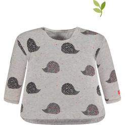Bluza w kolorze szarym. Szare bluzy dziewczęce rozpinane marki bellybutton, z bawełny. W wyprzedaży za 49,95 zł.
