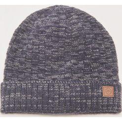 Melanżowa czapka - Granatowy. Niebieskie czapki zimowe męskie marki House. Za 29,99 zł.