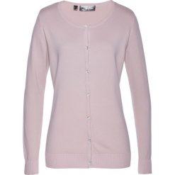 Swetry rozpinane damskie: Sweter rozpinany bonprix matowy jasnoróżowy