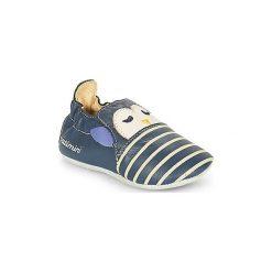 Kapcie niemowlęce Dziecko  Catimini  PINGOU. Niebieskie kapcie chłopięce marki Catimini. Za 169,00 zł.