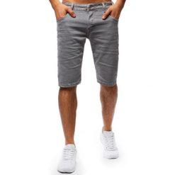 Spodenki i szorty męskie: Spodenki męskie jeansowe szare (sx0666)
