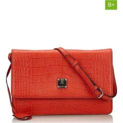 Torebki klasyczne damskie: Skórzana torebka w kolorze czerwonym – 29 x 19 x 2 cm