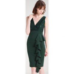 Sukienki hiszpanki: WAL G. WITH SIDE FRILL Sukienka koktajlowa dark green