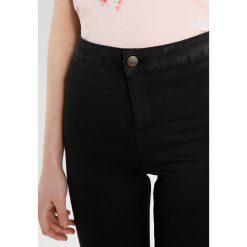 New Look DISCO Jeans Skinny Fit black. Czarne jeansy damskie marki New Look, z materiału, na obcasie. Za 129,00 zł.