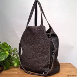 Torebki i plecaki damskie: Duża skórzana czekoladowa torba