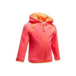 Bluza 560 Gym. Szare bluzy dziewczęce rozpinane marki DOMYOS, z elastanu, z kapturem. Za 39,99 zł.