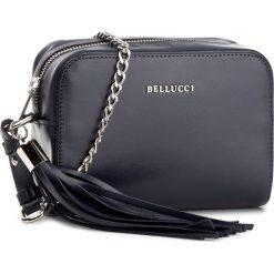 Torebka BELLUCCI - R-343 Granat Gładki. Czarne torebki klasyczne damskie marki Bellucci. W wyprzedaży za 189,00 zł.