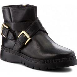 Botki GEOX - D Emsley A D747BA 000LC C9999 Black. Czarne buty zimowe damskie Geox, z materiału. W wyprzedaży za 399,00 zł.