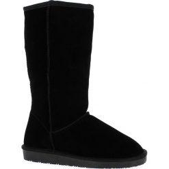 """Buty zimowe damskie: Skórzane kozaki """"Elidir"""" w kolorze czarnym"""