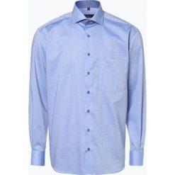 Eterna Comfort Fit - Koszula męska – niewymagająca prasowania, niebieski. Niebieskie koszule męskie non-iron Eterna Comfort Fit, m, w kwiaty, z klasycznym kołnierzykiem. Za 249,95 zł.
