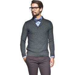 Krawaty męskie: sweter sagreto szalowy grafit