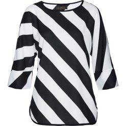 Bluzki asymetryczne: Bluzka bonprix biało-czarny w paski