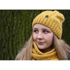 Czapki damskie: Komplet z owczeJ wełny czapka i szalik DIJON