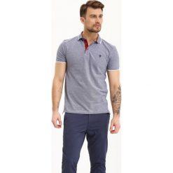 T-SHIRT MĘSKI POLO Z PIKI W MELANŻOWYM KOLORZE. Szare koszulki polo marki Top Secret, m, z bawełny. Za 69,99 zł.