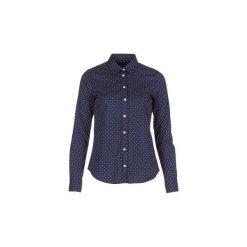 Koszule Gant  POLKADOT STRETCH BROADCLOTH. Niebieskie koszule damskie GANT. Za 469,00 zł.