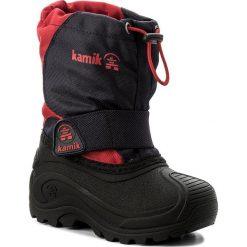 Buty zimowe chłopięce: Śniegowce KAMIK – Snowfox NK8610 Navy/Red
