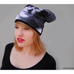 Czapka #john lenonn. Czarne czapki damskie Pakamera, na zimę, z dzianiny. Za 93,00 zł.