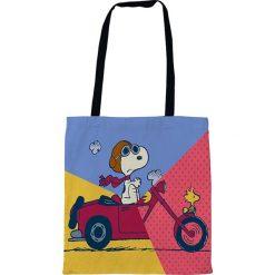 """Torebki klasyczne damskie: Torba """"Motocar"""" z kolorowym wzorem na zakupy - 35 x 40 cm"""