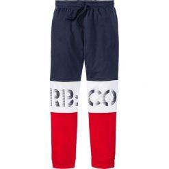 Spodnie dresowe męskie: Spodnie dresowe bonprix ciemnoniebiesko-biało-czerwony