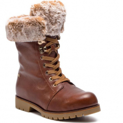 Trapery CAPRICE - 9-26215-21 Cognac Ant.Nap 320. Brązowe buty zimowe damskie Caprice, z materiału. W wyprzedaży za 259,00 zł.