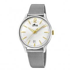 """Zegarek """"18405/1"""" w kolorze srebrno-złotym. Szare, analogowe zegarki męskie NIXON & ESPRIT, ze stali. W wyprzedaży za 339,95 zł."""