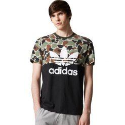 Adidas Originals Koszulka męska S/S Camo Color Block Tee zielona r. S (CD1696). Szare koszulki sportowe męskie marki adidas Originals, z gumy. Za 142,87 zł.