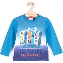 Koszulka. Niebieskie t-shirty chłopięce z długim rękawem BOARD KING, z bawełny. Za 24,90 zł.