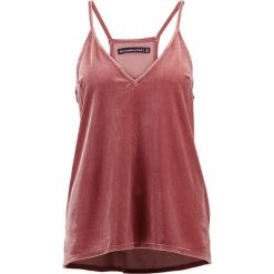 Topy damskie: Abercrombie & Fitch VELVET CAMI Top pink