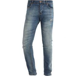 Jeansy męskie: Benetton Jeans Skinny Fit stone blue